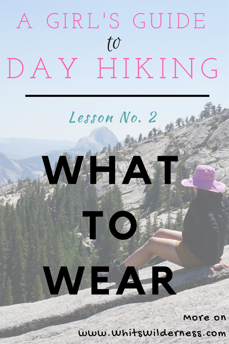 Pinterest Graphic - What to Wear Day Hiking